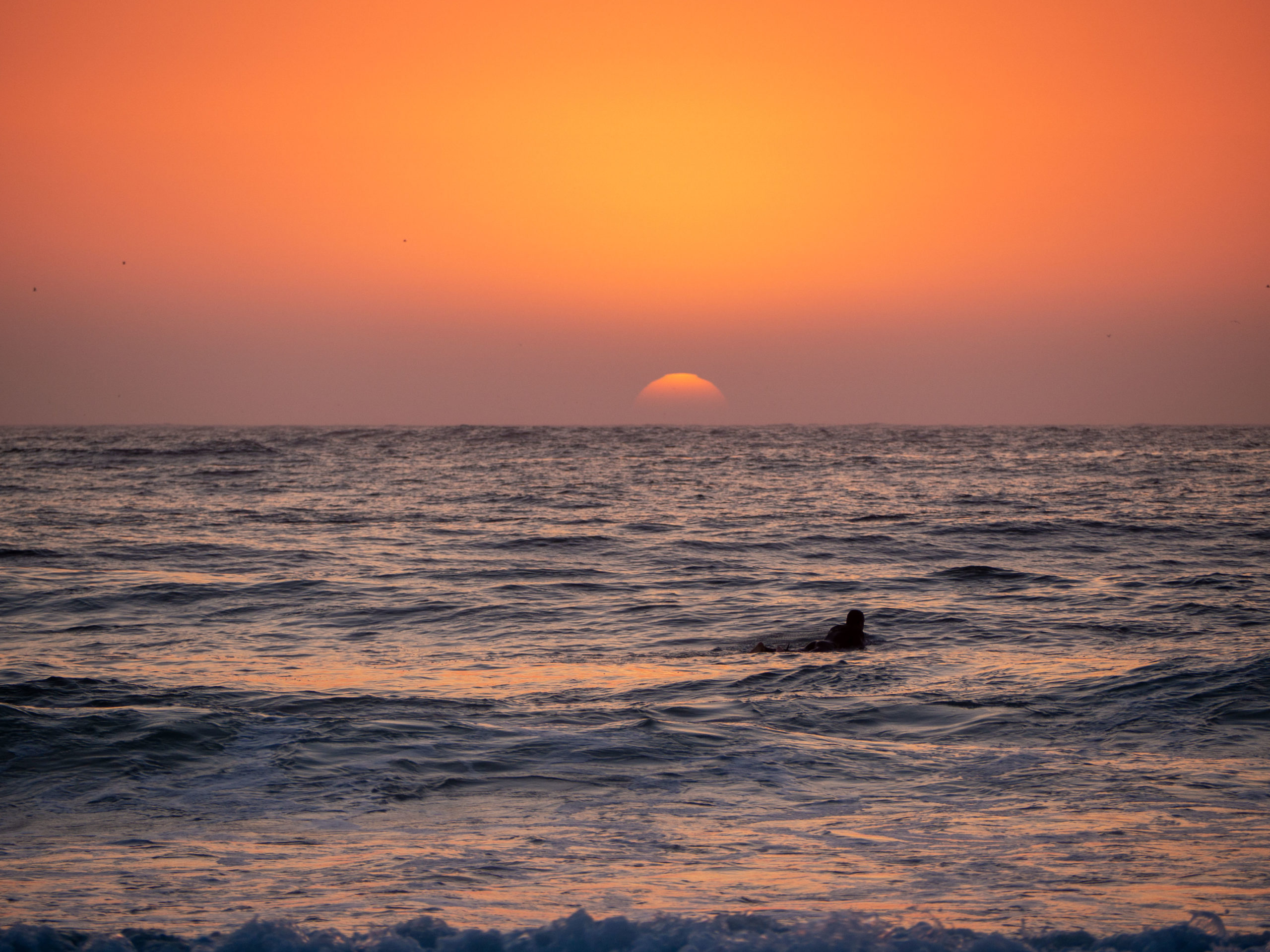Surfing the sunset
